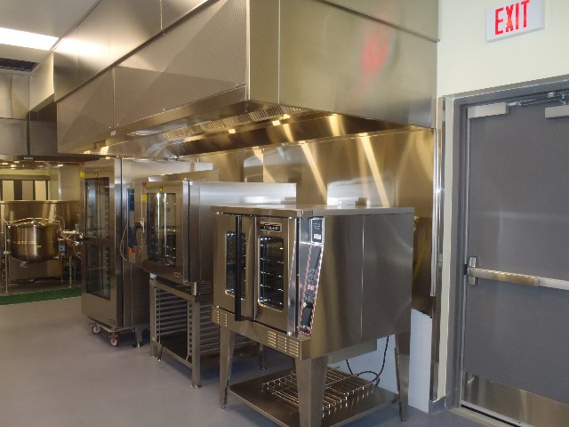 Box Style Exhaust Hood cw Make Up Air Front